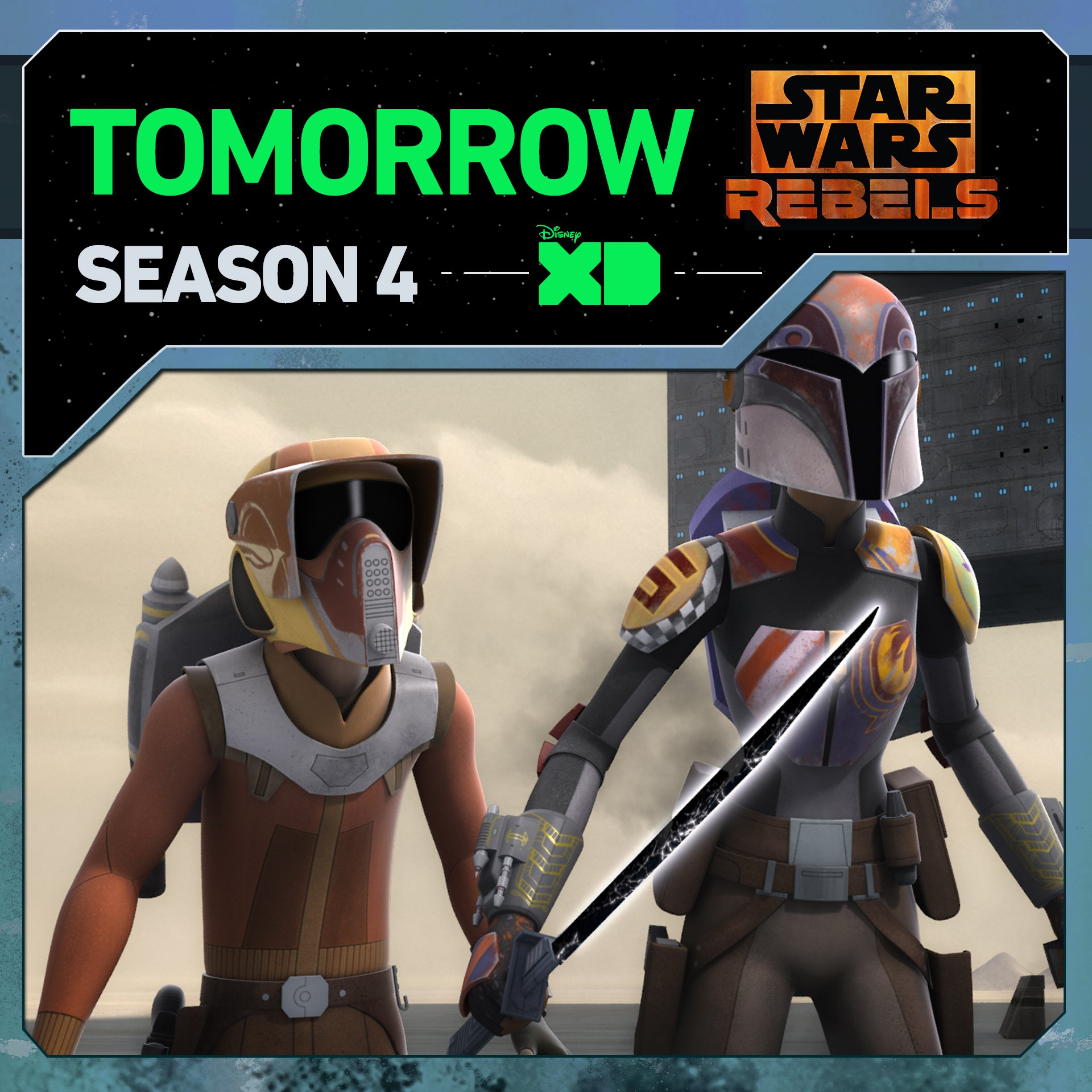 Return to Mandalore with the crew of the Ghost in the season premiere of #StarWarsRebels. https://t.co/9IxEr5SbtA