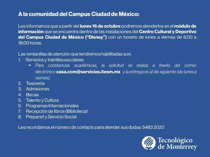 Ing Mecatrónica Ccm On Twitter Aviso Importante Sobre