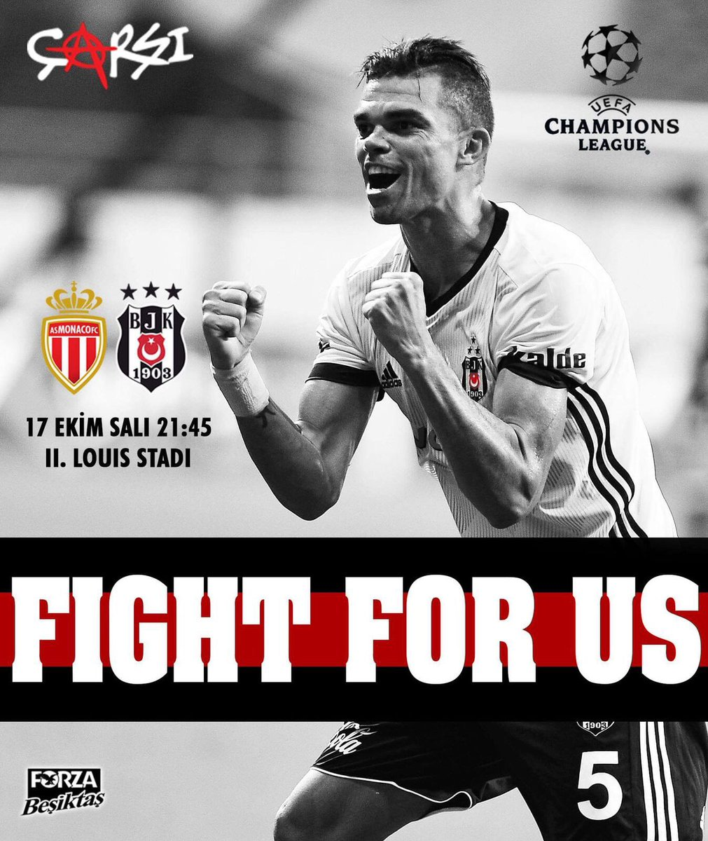 Bizim için savaş! #Beşiktaş #UCL #Pepe h...