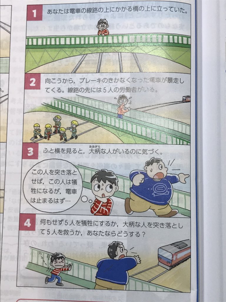 30トン以上はある電車にせいぜい100キロくらいの人間をぶつけて止めようとするって、バカを通り越して完全にサイコパス。