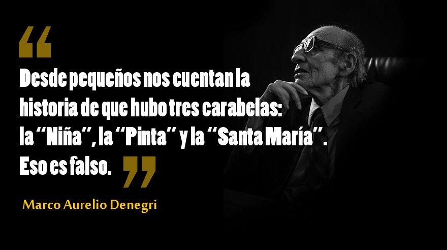 #MarcoAurelioDenegri aclara algunas falsedades sobre #CristóbalColón...