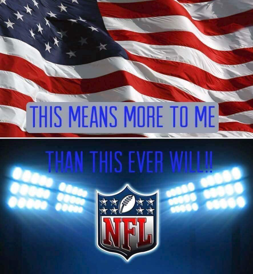#sundaythoughts  WON&#39;T  BE WATCHING @FOXSports @ESPNNFL or any @NFL until they #StandForTheFlag #StandForOurAnthem  #BoycottNFL continues!<br>http://pic.twitter.com/i6VOw7Q8O9