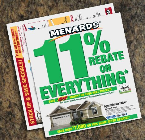 Menards On Twitter Right Now You Ll Get An 11 Rebate On Everything Plus Stock Up Save Specials See Flyer For Details Https T Co K2mollqxwu Https T Co Lvlntplf2c