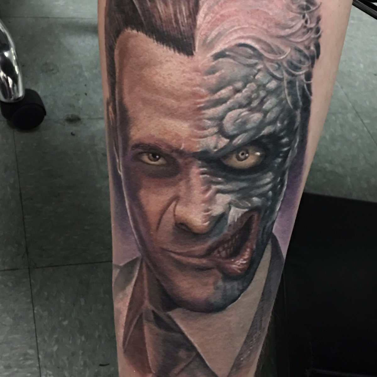 two faced tattoo
