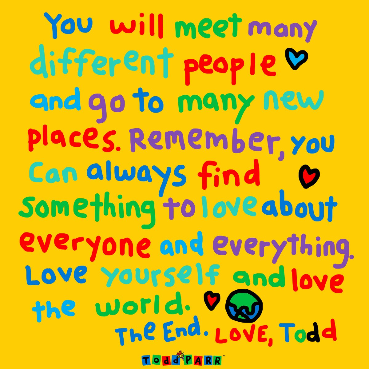 Have a good week everyone! #MondayMotivation #LoveTheWorld #ToddParrBooks #love #kindness #ItsJustThatSimple https://t.co/f1cRbCMfH7