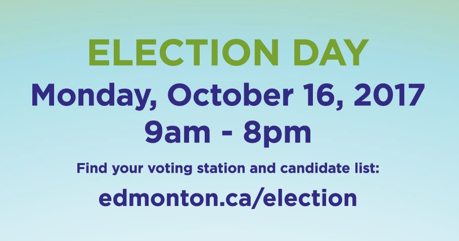 Make it happen - vote! Tomorrow is #yeg's election day. Cast your ball...