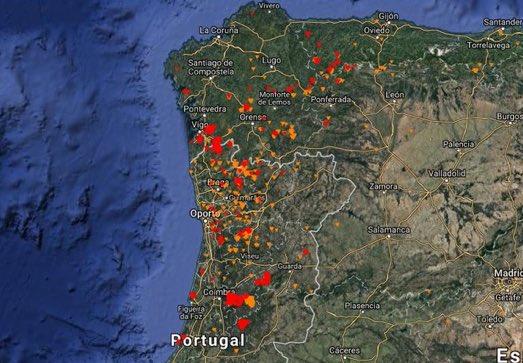 Mapa Incendios Galicia 2017.Francisco Guaita On Twitter Este Es El Mapa De Los
