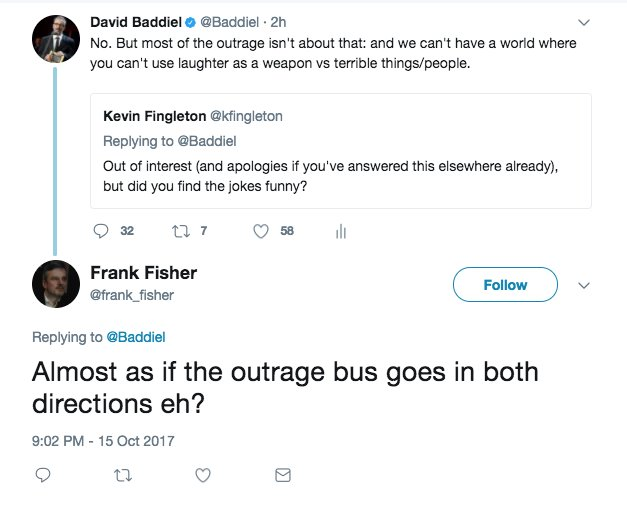 Sorry Frank. The bus metaphor has lost me. Although accept a bus *can* go in both directions. https://t.co/nRP2Jl7oOf