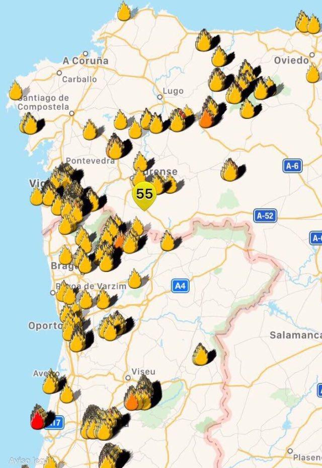 Mapa Incendios Galicia 2017.Francisco Guaita On Twitter Este Es El Mapa De Incendios