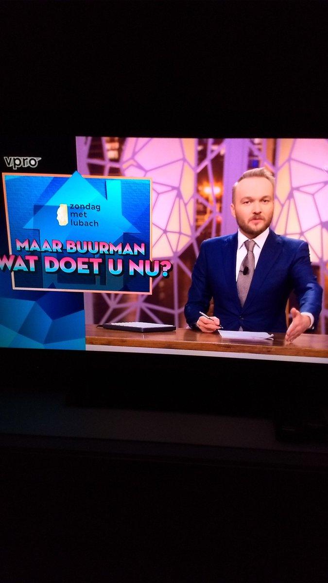 Lubach in bloedvorm. Lach meer dan bij menig cabaretier #zml #maarbuur...