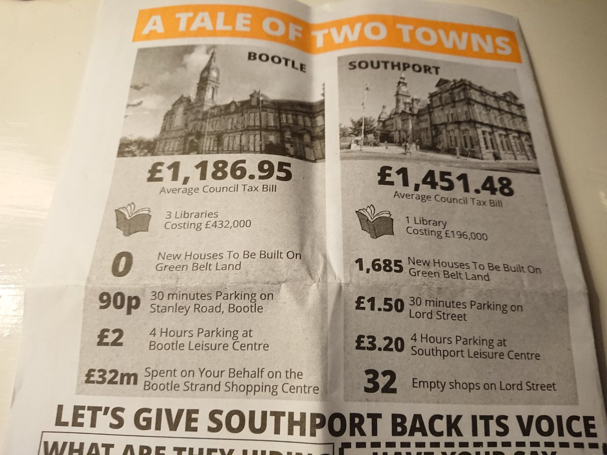 Poor propaganda from #Southport Lib Dems. Council tax based on property valuation so low in Bootle, a place with green belt land? No... <br>http://pic.twitter.com/VIejAzsflo