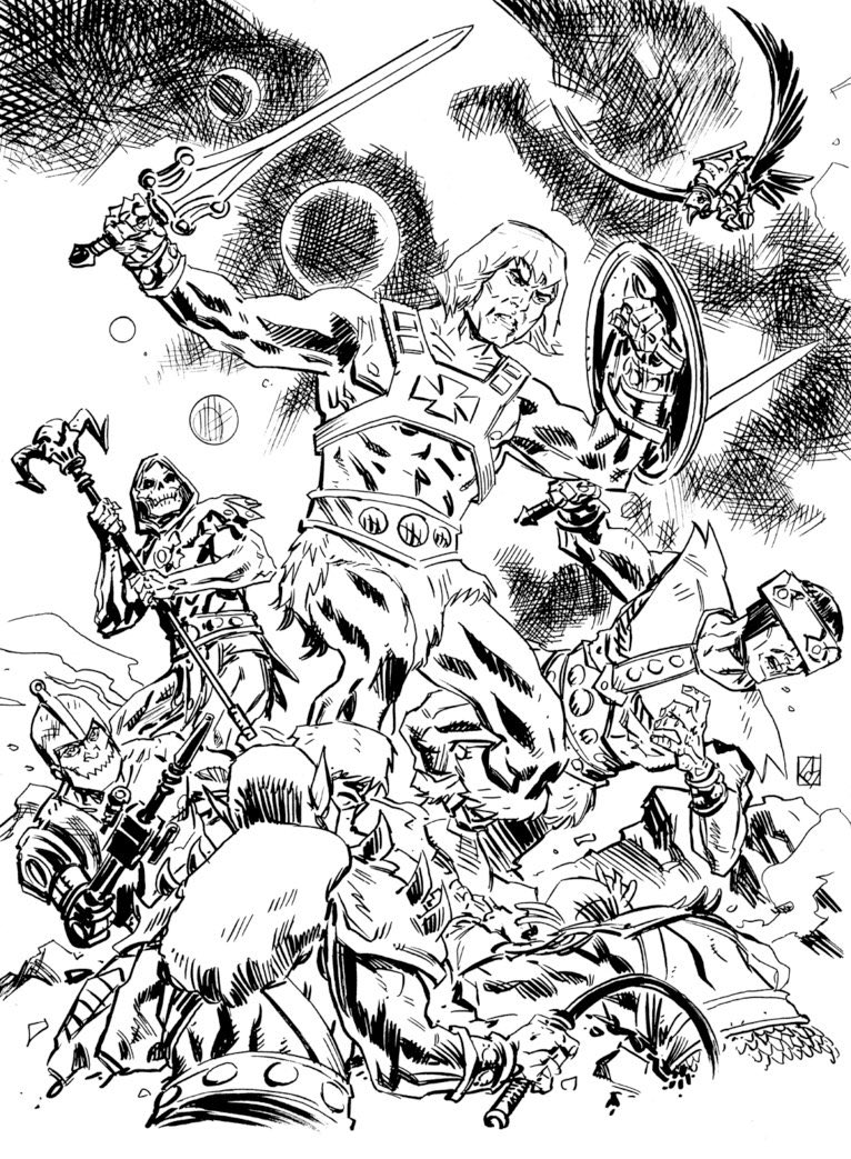 I just love this inked sketch by @DeanKotz feat. He-Man &amp; the Masters of the Universe in glorious battle alone against #Skeletor&#39;s &quot;Evil Warriors&quot; #MOTU #HeMan #MastersoftheUniverse #art #illustration #comics<br>http://pic.twitter.com/rM8917k8Zb