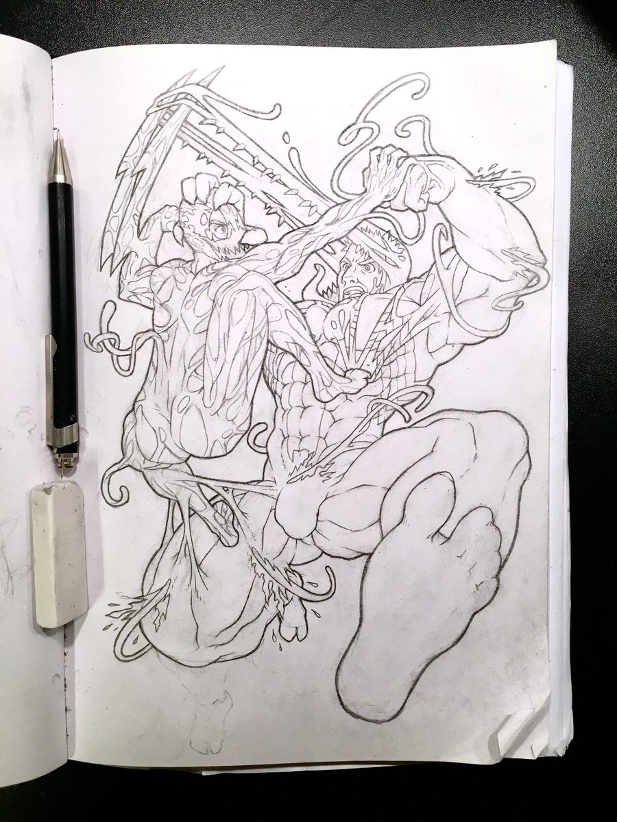 Kei Mak On Twitter Got Bitten By The Drawing Bug Again Carnage