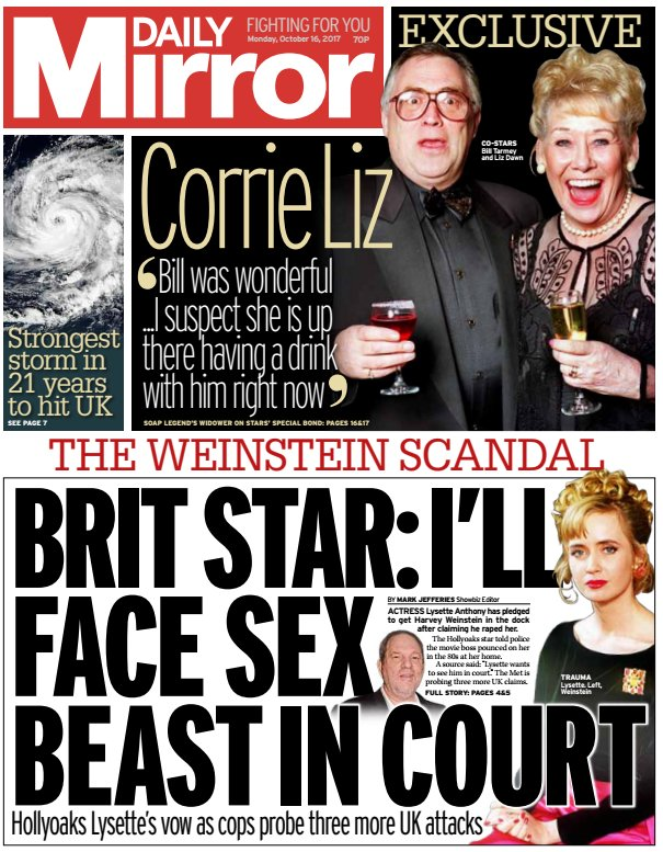 DAILY MIRROR: Brit Star: I'll face sex beast in court #skypapers