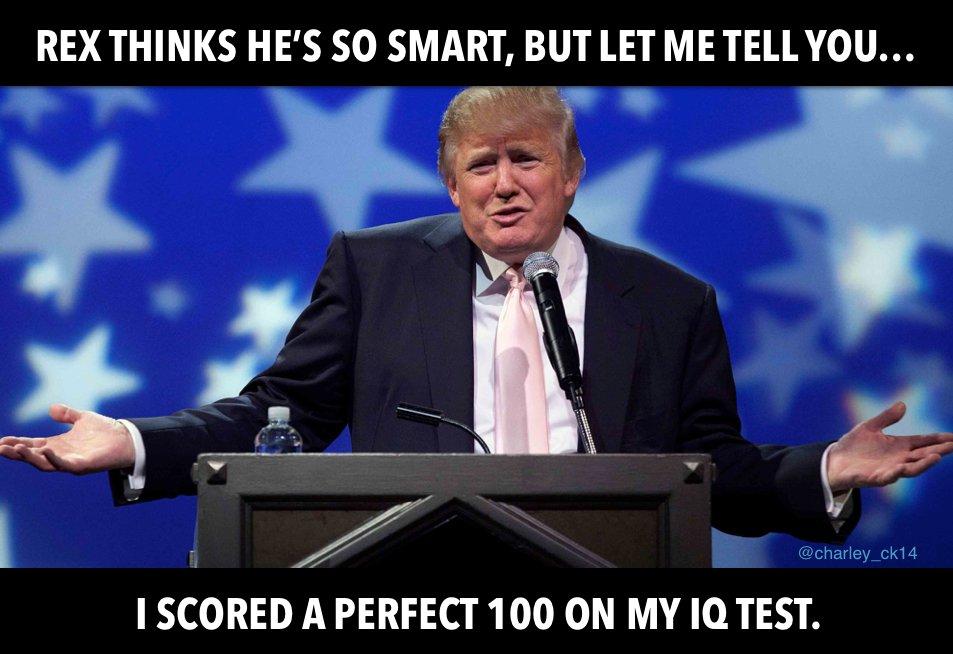 It&#39;s a no brainer...  #TrumpIQ #RexTillerson <br>http://pic.twitter.com/34G3ycgG0d