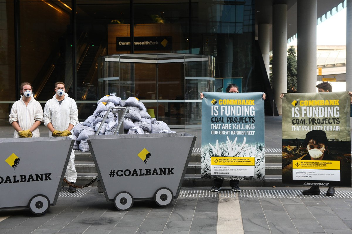 We've brought coal right to #CommBank's...