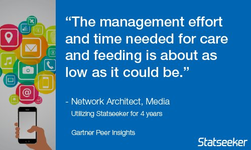 Not sure if @Statseeker is for you? Read real unbiased reviews from real users:  http:// gtnr.it/2yjocqi  &nbsp;   @Gartner_inc #networkmonitoring <br>http://pic.twitter.com/EfLUT1sfQ5