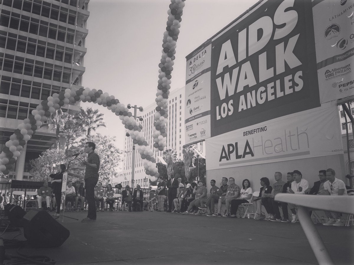 Happy to speak at @aidswalkla this morning. This is for Michael Friedm...