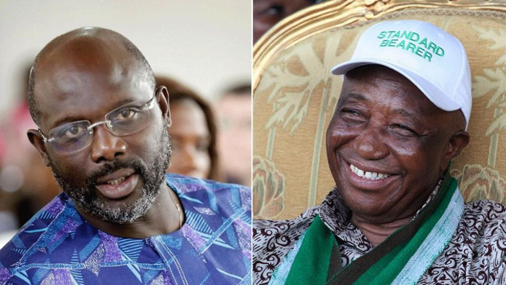 Liberia election: #Weah and #Boakai headed for presidential #runoff  http:// bbc.in/2xHCqwH  &nbsp;  <br>http://pic.twitter.com/J59vcW95Zo