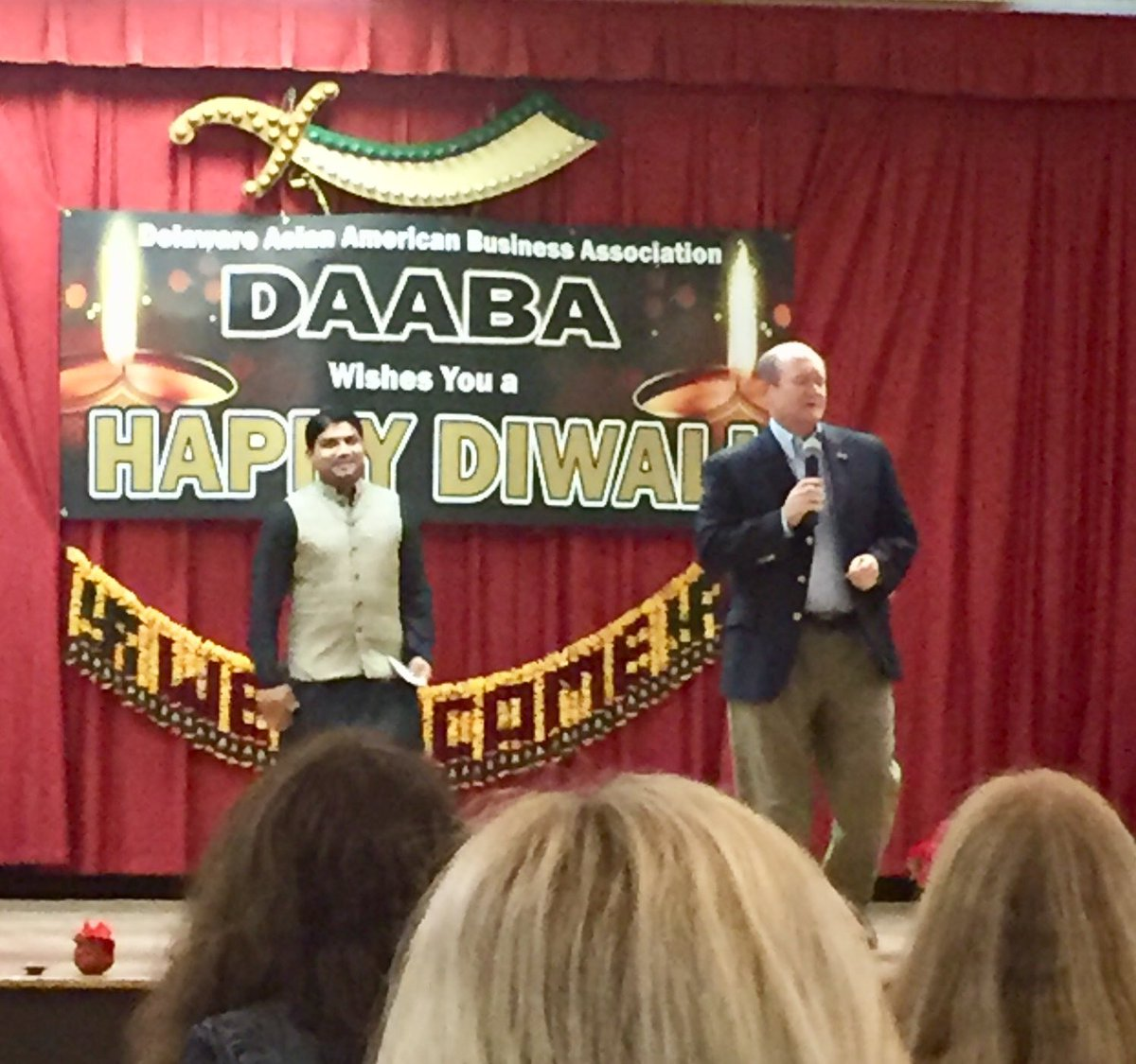 Great to join DE Asian American Business Association (DAABA) friends for annual #Diwali Party. Great celebration of culture - & food! #netDE