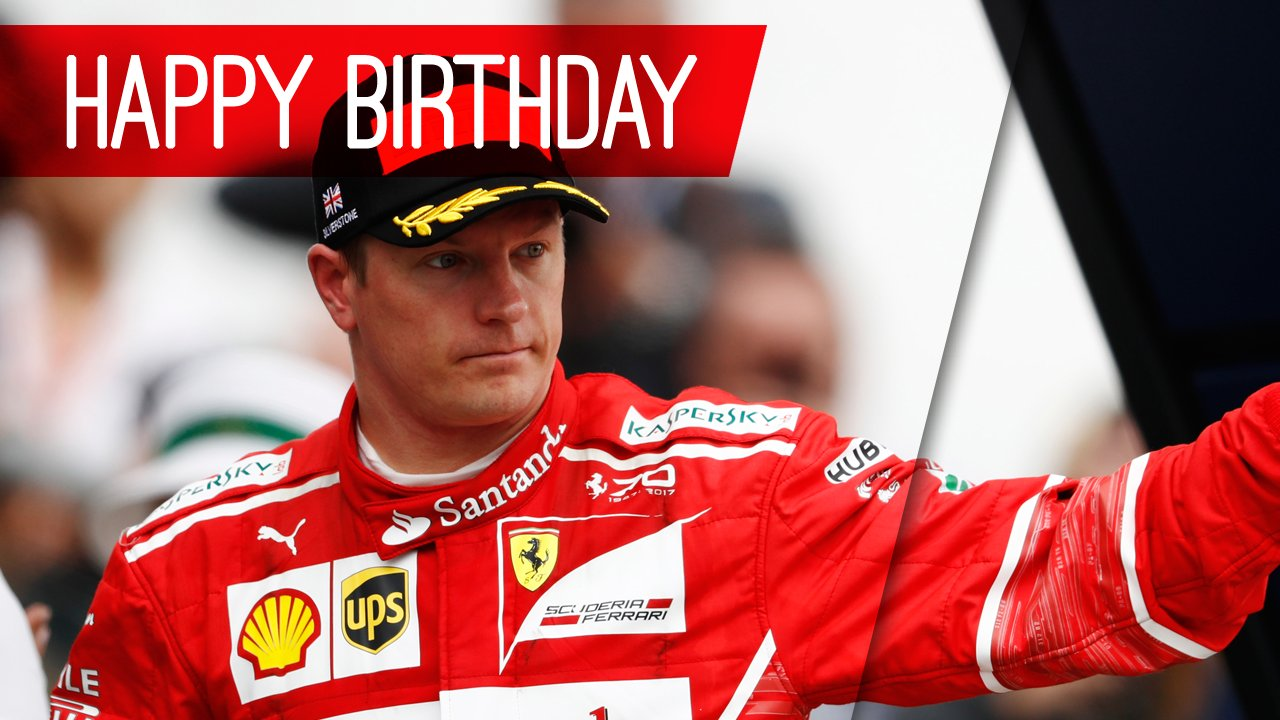 Happy birthday, Kimi Raikkonen! The Iceman turns a cool 38 today
