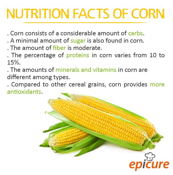 Epicure Catering On Twitter Nutrition Facts Of Corn Corn Nutrition Epicurethailand