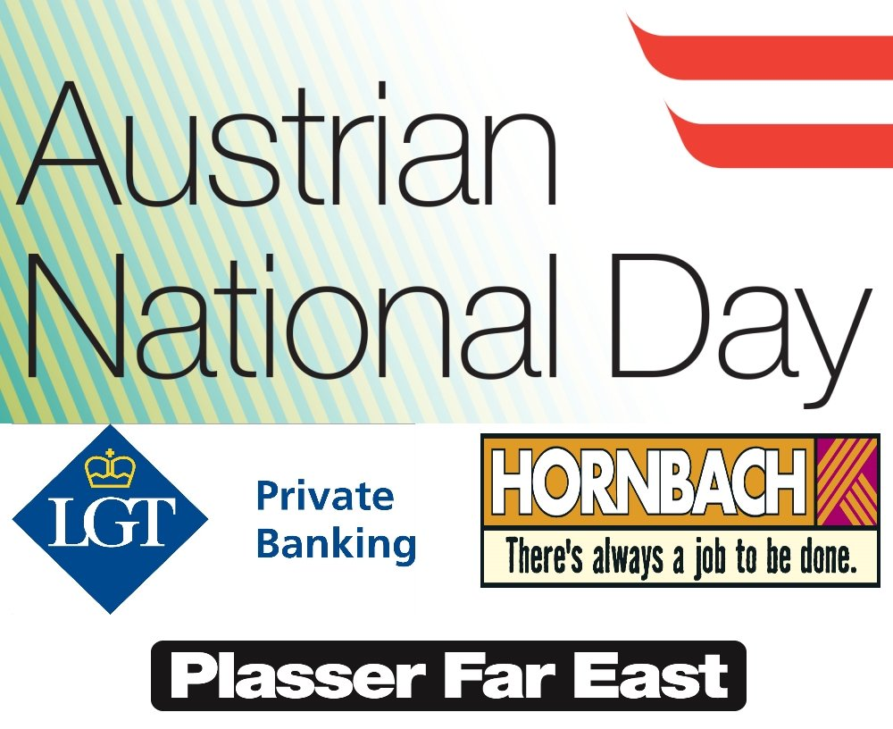 Thank you very much for the great support of our Gold Partners for this year&#39;s #austriannationalday reception!#LGT #Hornbach #PlasserFarEast<br>http://pic.twitter.com/daHgaOaQFp