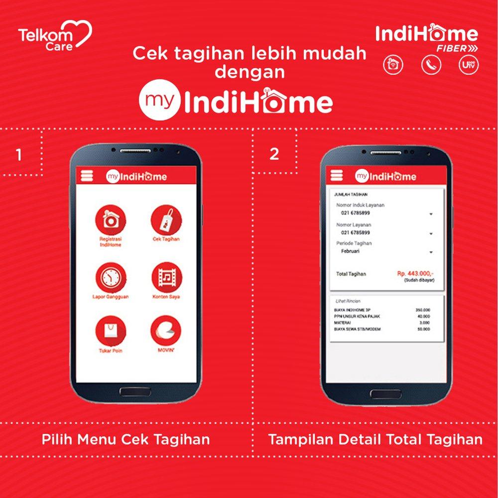 Telkom Care Na Twitteru Cek Tagihan Indihome Dengan Mudah Melalui Aplikasi Myindihome Yuk Download Sekarang
