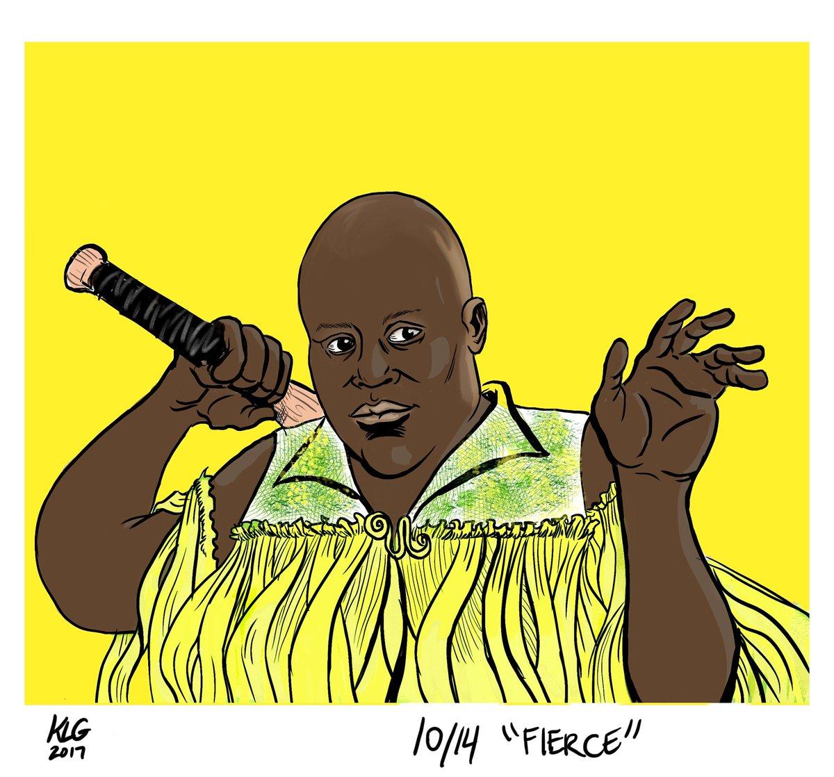 #inktober Day 14 - &quot;Fierce&quot; - falling behind again  #titusandromedon #lemonading #inktober2017 #unbreakablekimmyschmidt <br>http://pic.twitter.com/UcHEDlZ7SR