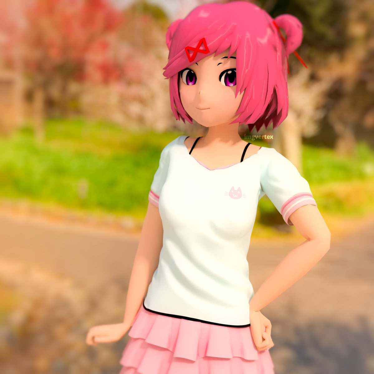 U30d9u30ebu30c6u30c3u30afu30b9 VERTEX on Twitter u0026quot;Done #Natsuki #3D #Model #ddlc #DokiDokiLiteratureClub #anime #vn ...