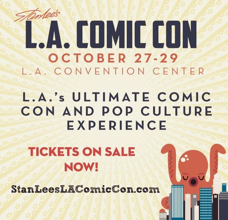 We &lt;3 @StanLeeComicCon! It&#39;s by fan for fans. There will be 150K in attendance collecting, #cosplaying + getting autographs. Go #LA go!<br>http://pic.twitter.com/GKIOOsLDHv
