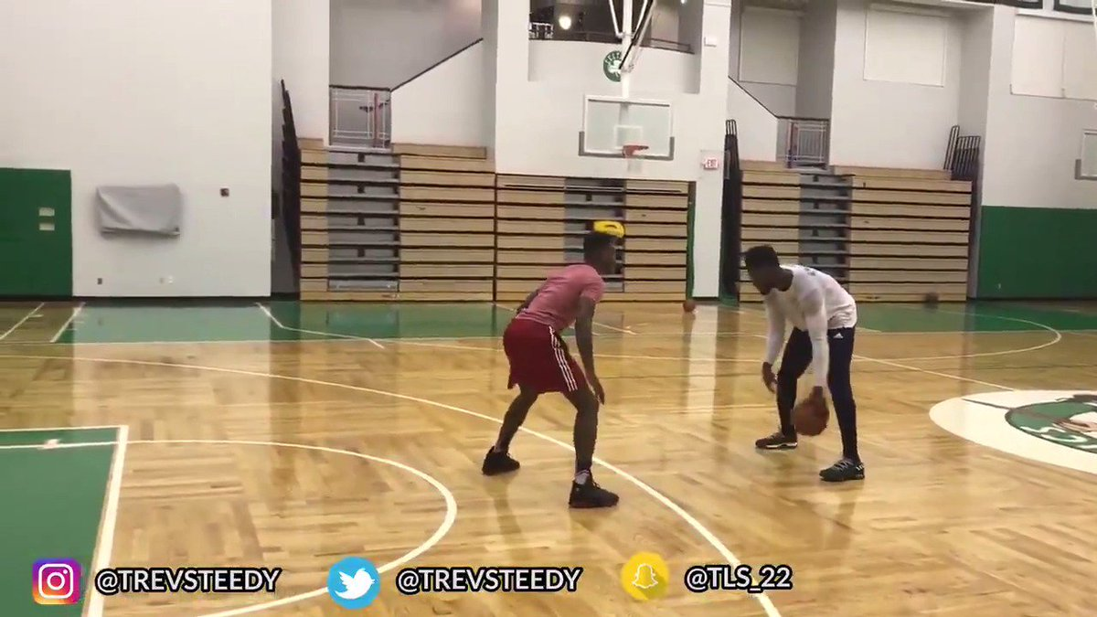 NSFW: Jaylen Brown took on YouTuber @trevsteedy in 1-on-1, and it went...