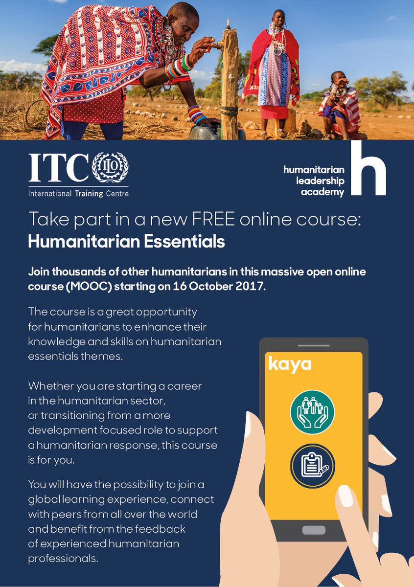The Humanitarian Essentials online course starts today! You can still register here:  https:// goo.gl/N9CAhE  &nbsp;   #MOOC #elearning #humanitarian <br>http://pic.twitter.com/qHPYtXT0Jl