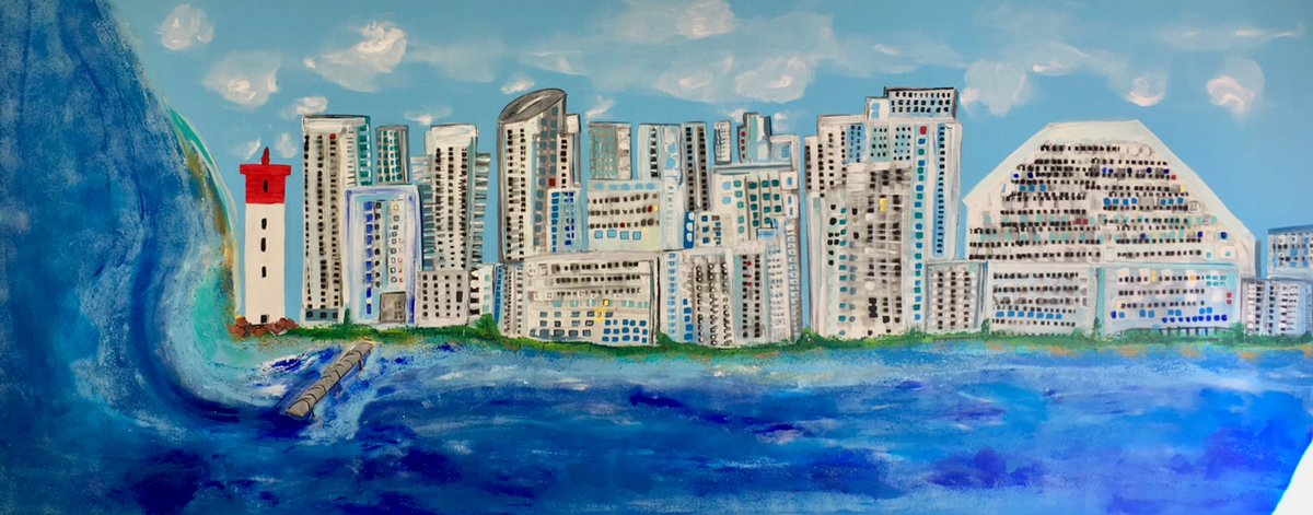 Commission for a Client, Contemporary Umhlanga on canvas 3m x 1.2m #contemporaryart #painting #umhlanga #abstractart<br>http://pic.twitter.com/JWAxABvMjU