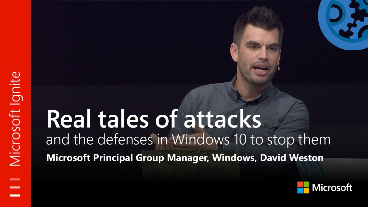 From #MSIgnite: Real tales of attacks, and the defenses in #Windows10 to stop them. Watch the full session here:   https:// youtu.be/bNPo_BA72Is  &nbsp;  <br>http://pic.twitter.com/pUEhtIIlOH
