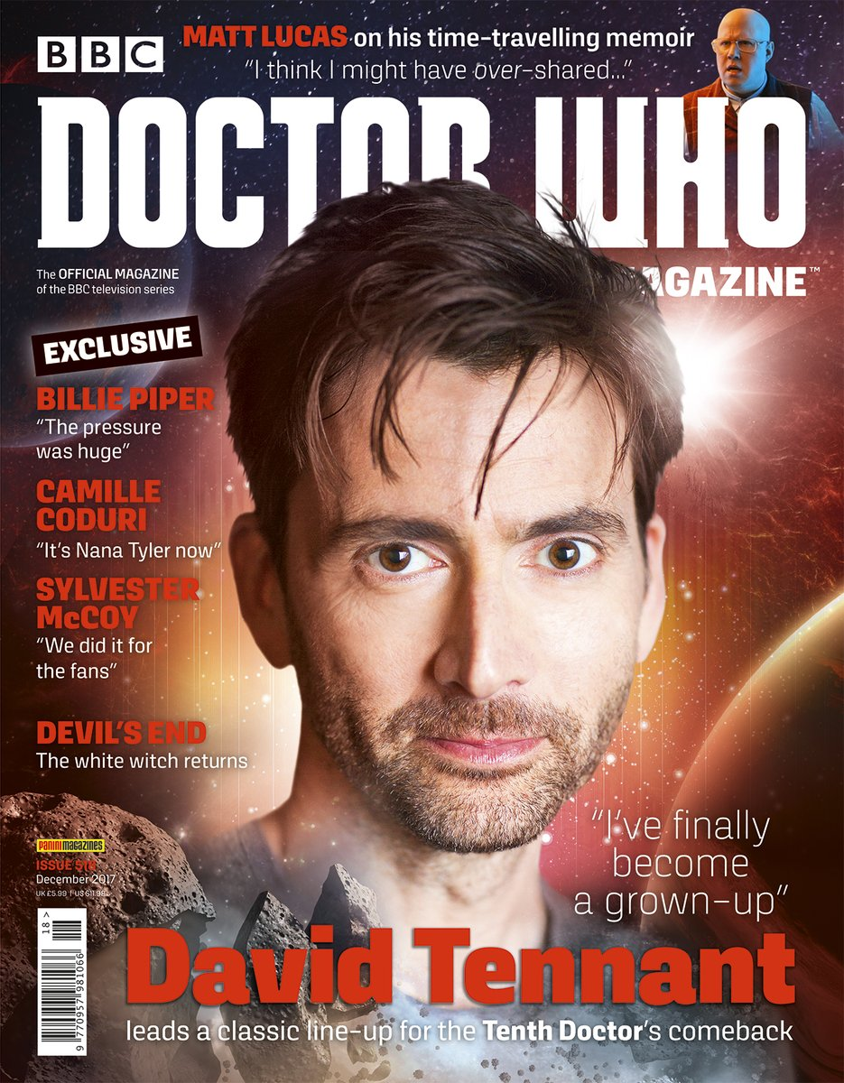David Tennant on the cover of issue 518 of Doctor Who Magazine