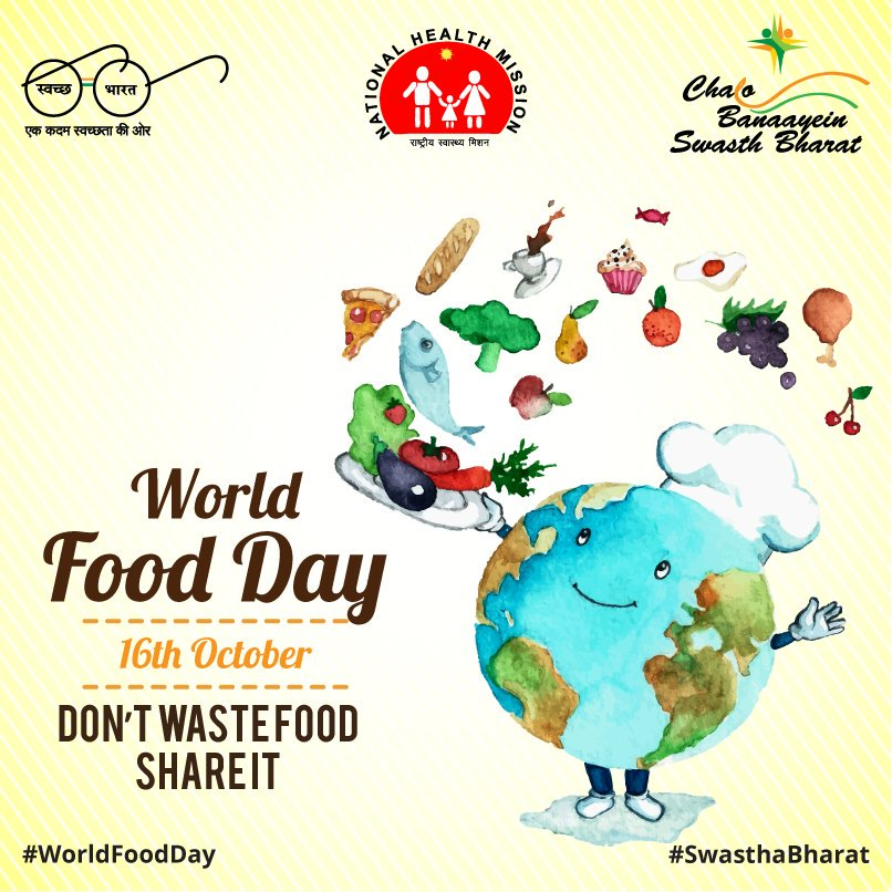 We grow sufficient food  to feed everyone globally, yet millions sleep hungry. Don&#39;t waste food , share it #WorldFoodDay #SwasthaBharat <br>http://pic.twitter.com/41qvMXZnCK