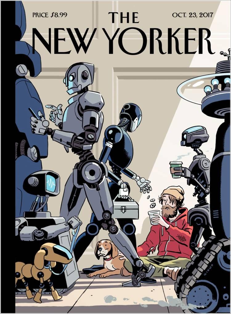 Le jour où les robots auront pris tous les postes...  L'angoissante couverture du @NewYorker