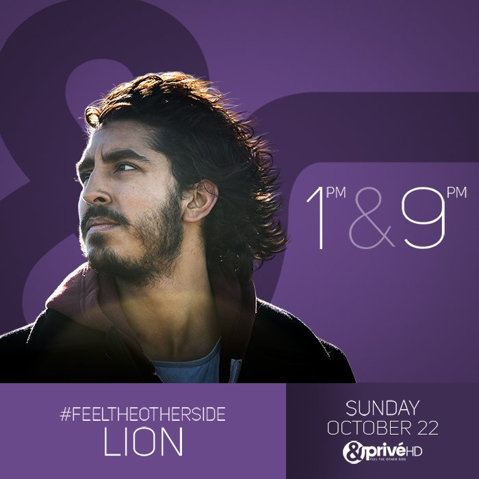 Did he lose his family or his identity? #FeelTheOtherSide of #Lion on Sunday, 22 Oct at 1 &amp; 9 PM on #AndPrivéHD.<br>http://pic.twitter.com/f7pk5CQevX
