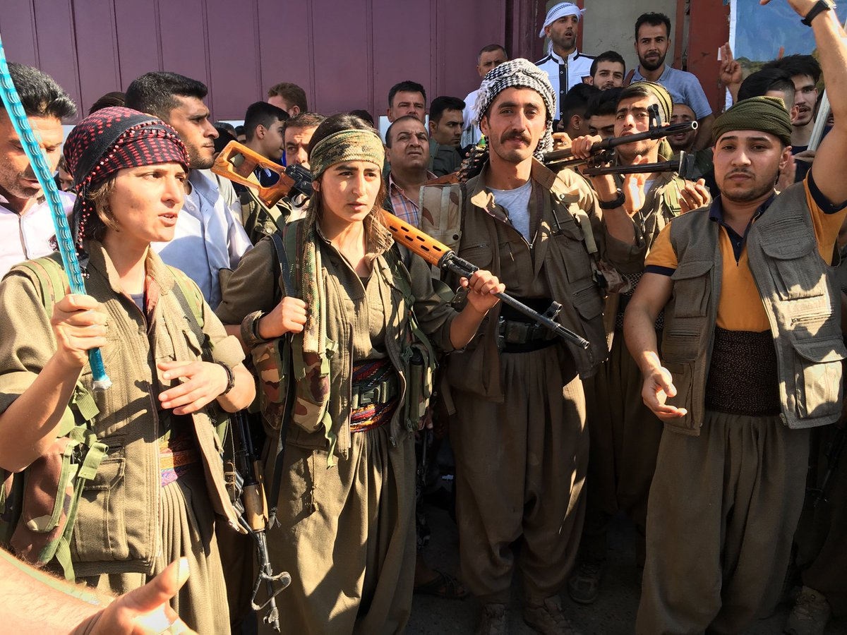 Peshmerga fighters from outside #Kirkuk who have come to help defend t...