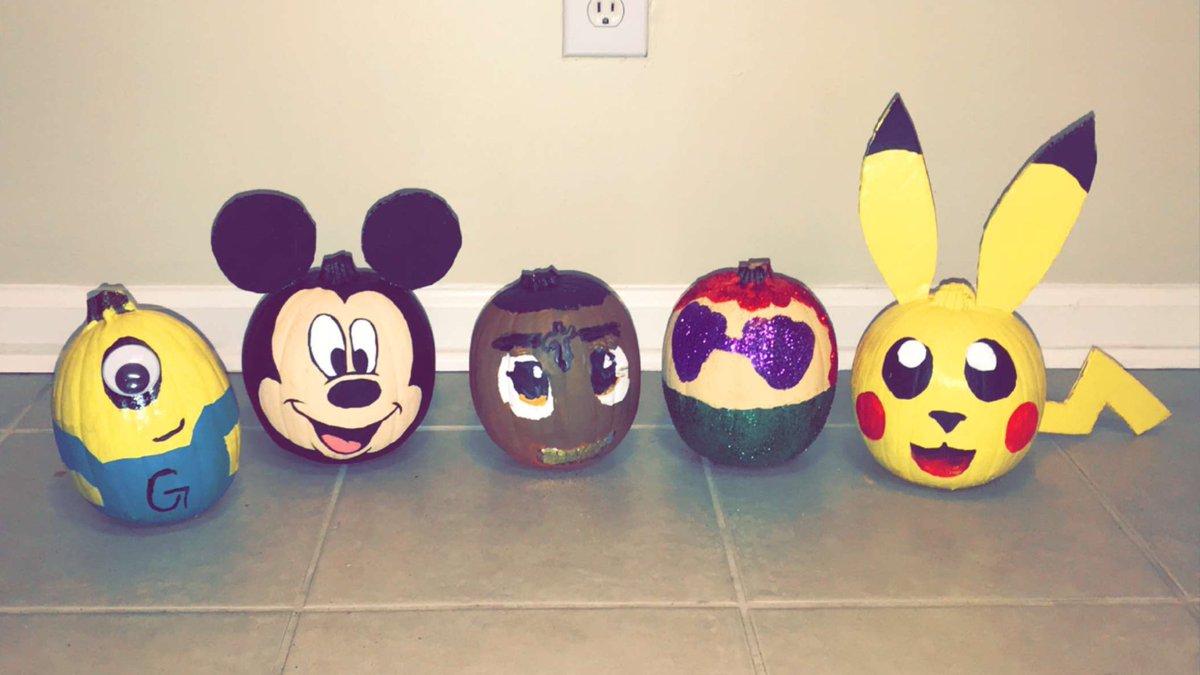 pumpkin paintings  #Minion #MickeyMouse #21Savage #Ariel #Pikachu @ashleeyxcee<br>http://pic.twitter.com/3spCtjeAQz