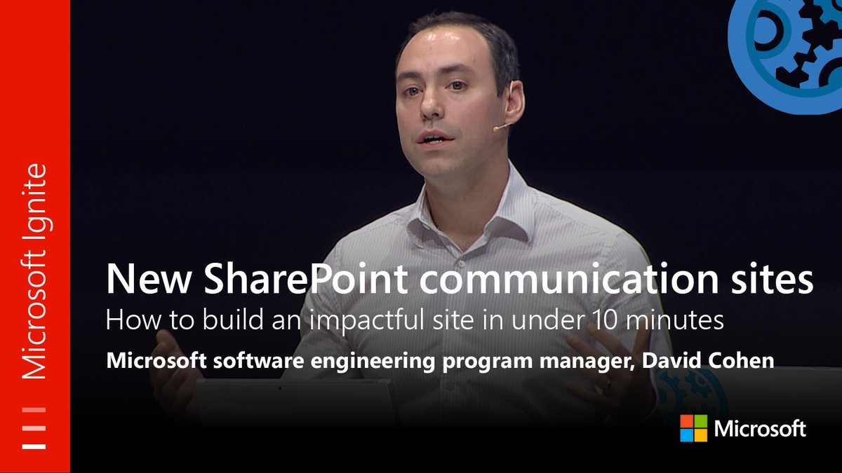 From #MSIgnite: New Communication Sites in #SharePoint: Build a site in under 10 minutes. Watch full session here:  http:// youtu.be/dhE9UN5QcHE  &nbsp;  <br>http://pic.twitter.com/Jvq7L4MAo1