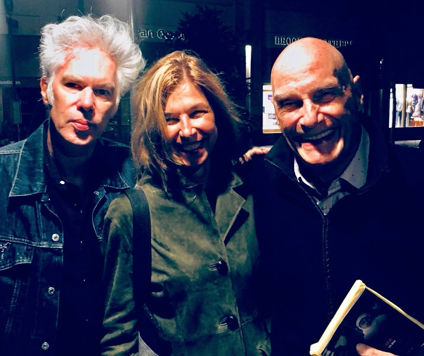 The French Crew #PhilippeGarrel, #MathieuAmalric, @arnaudesplechin #BarbetSchroeder meet #JimJarmush &amp; partner #SarahDriver at @TheNYFF !<br>http://pic.twitter.com/LAndmXgvXu