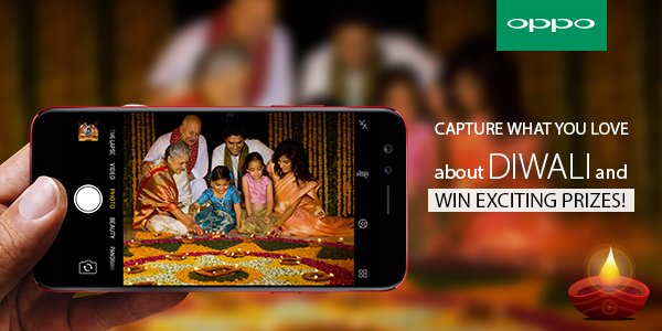 Capture and share with us what you love the most about Diwali and stand a chance to win exciting prizes! Hurry! #YourBestDiwaliGift #OPPOF3 <br>http://pic.twitter.com/ocOmEmo9Da