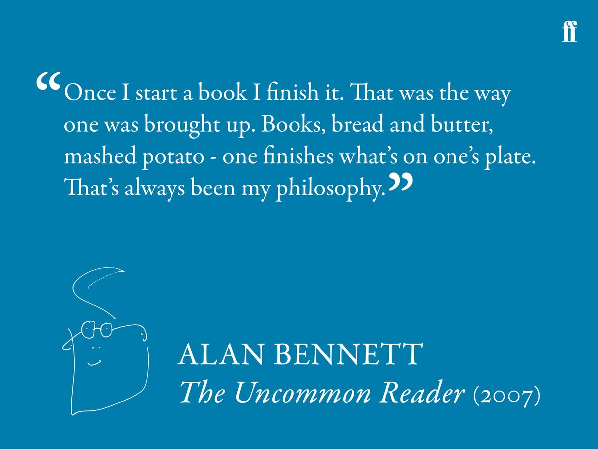 Wise words from Alan Bennett #mondaymotivation https://t.co/5HutgZYcSv