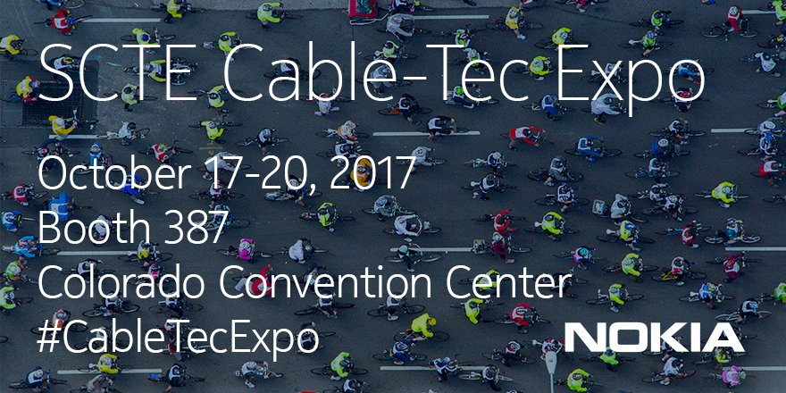 Attending #CableTecExpo? Visit us on booth 387 for inside looks at our most exciting solutions #security #visibility  http:// nokia.ly/2wLnYEB  &nbsp;  <br>http://pic.twitter.com/GAmuvdVKkI