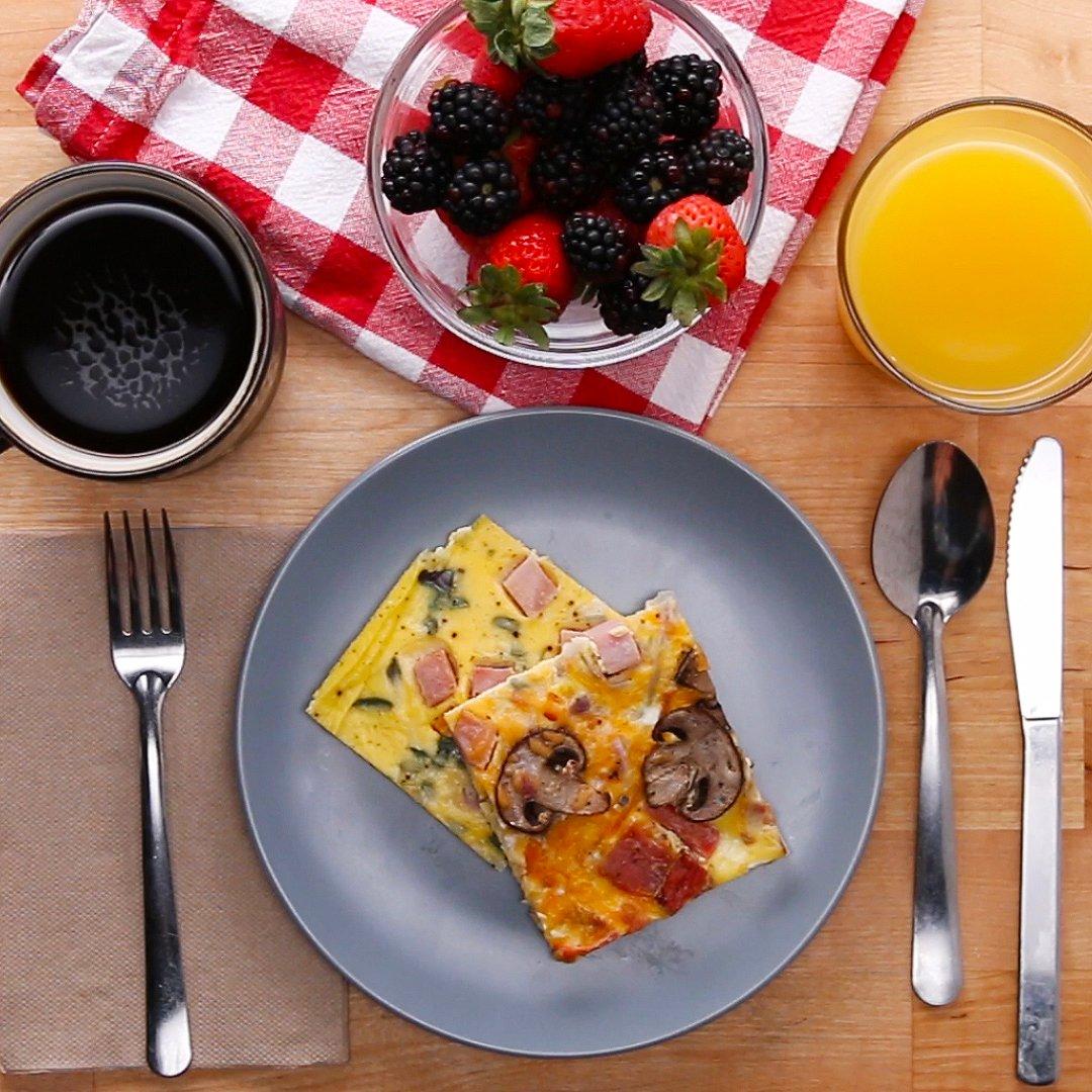 朝ごはんに♪ 具だくさんのスクエア・オムレツ #tastyjapan
