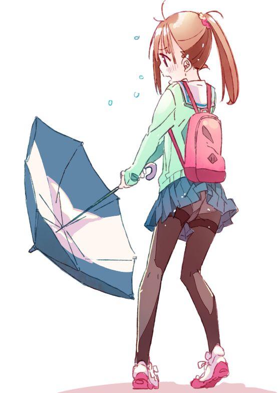 ちょっとだけ気晴らし▽絵 傘を持っていきなさい('e')っ▽ https://t.co/xh7KU4mD24
