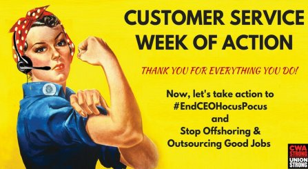 Thank you to customer service workers fo...