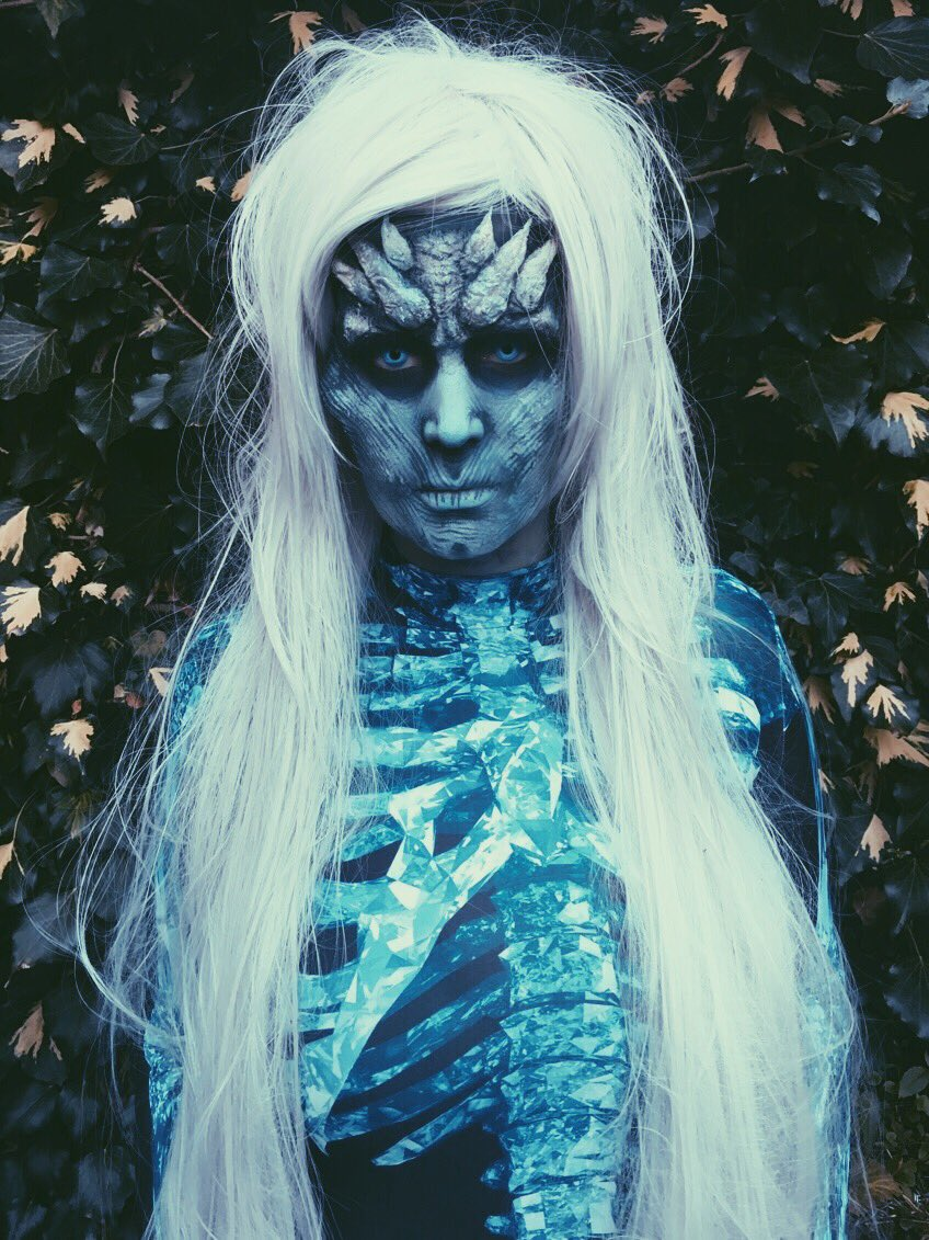 White Walker Fancy dress makeup from this weekend! #GameofThrones  #Halloween #sfx #makeupartist<br>http://pic.twitter.com/RQcp1bshUD